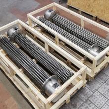 Фланцевые нагреватели раствора этиленгликоля 180 кВт Ду250 Ру10 для использования в составе проточных подогревателей.