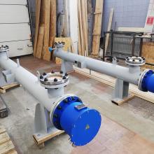 Подогреватели раствора хлористого кальция 175 кВт 380В Ду200 Ру16 с тефлоновым покрытием нагревательных элементов